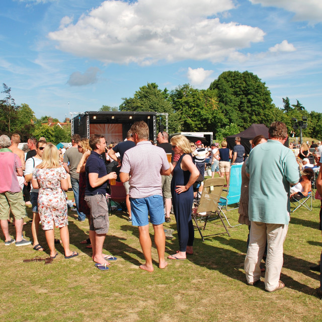 """Tentertainment music festival, Tenterden"" stock image"