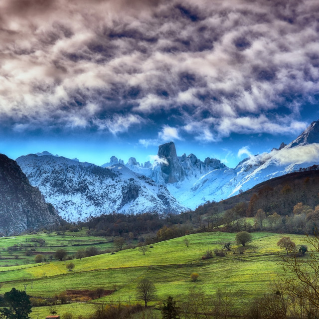 """Naranjo de Bulnes (known as Picu Urriellu) in Picos de Europa National Park."" stock image"