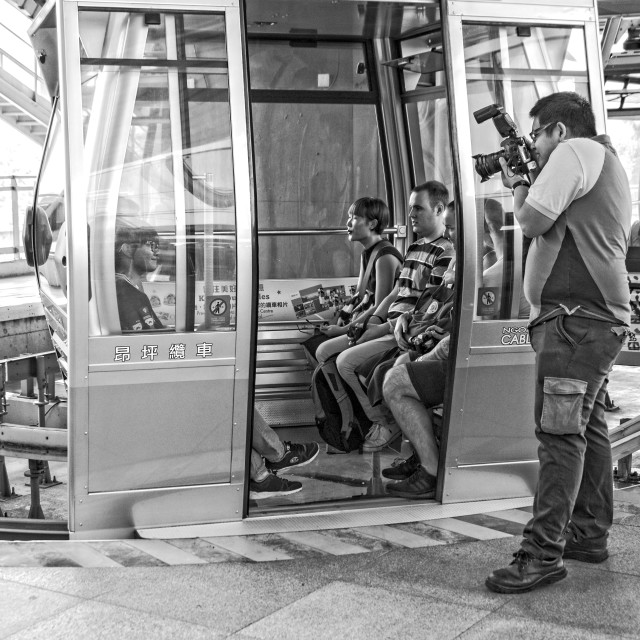 """On the way to the Great Buddha with Ngong Ping 360 Cable Car"" stock image"
