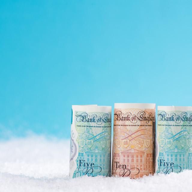 """British money, Cyber Monday,Black Friday Christmas sale concept"" stock image"