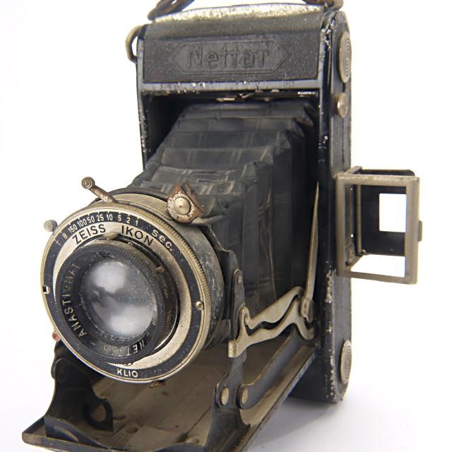 """""""Zeiss Nettar bellows camera"""" stock image"""