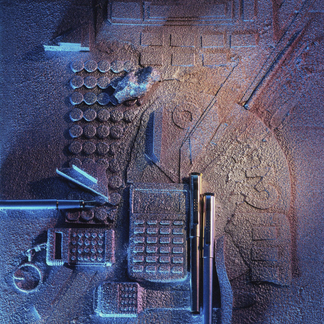 """Calculators and gadgets"" stock image"