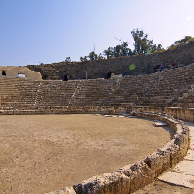 """Israel, Bet Shean Roman theatre,"" stock image"