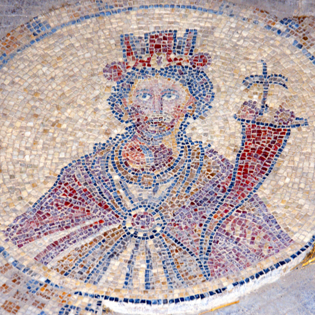 """""""Israel, Bet Shean, Tyche mosaic"""" stock image"""