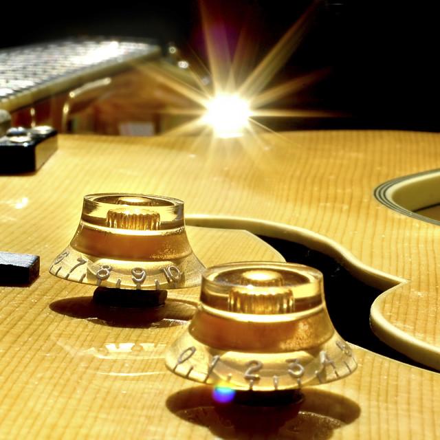 """Guitar Abstract close up"" stock image"