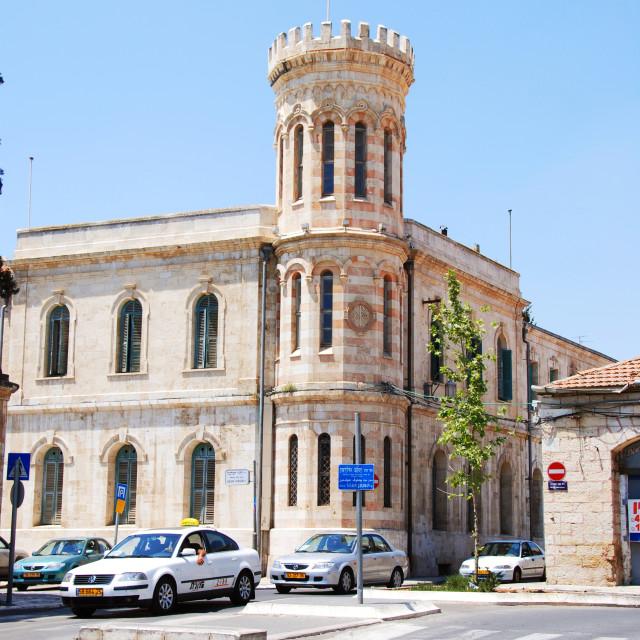 """Israel, Jerusalem, The new City Hall in Safra Square"" stock image"