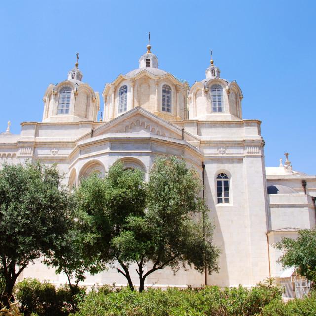"""Israel, Jerusalem, The holy Trinity Cathedral"" stock image"