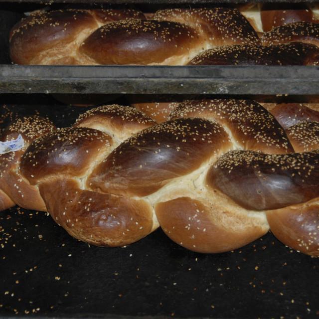 """""""Freshly baked Challa"""" stock image"""