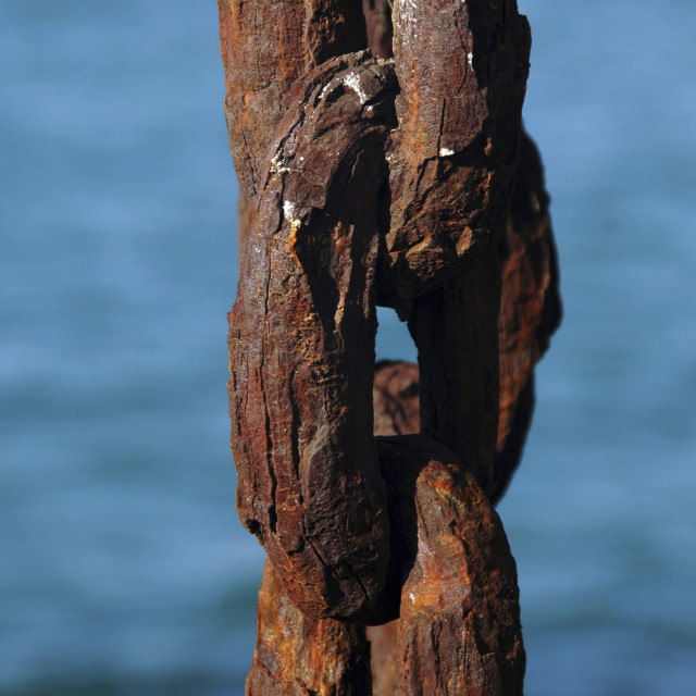 """""""Old rusty anchor chain"""" stock image"""
