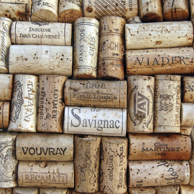 """""""an assortment of wine bottle corks"""" stock image"""