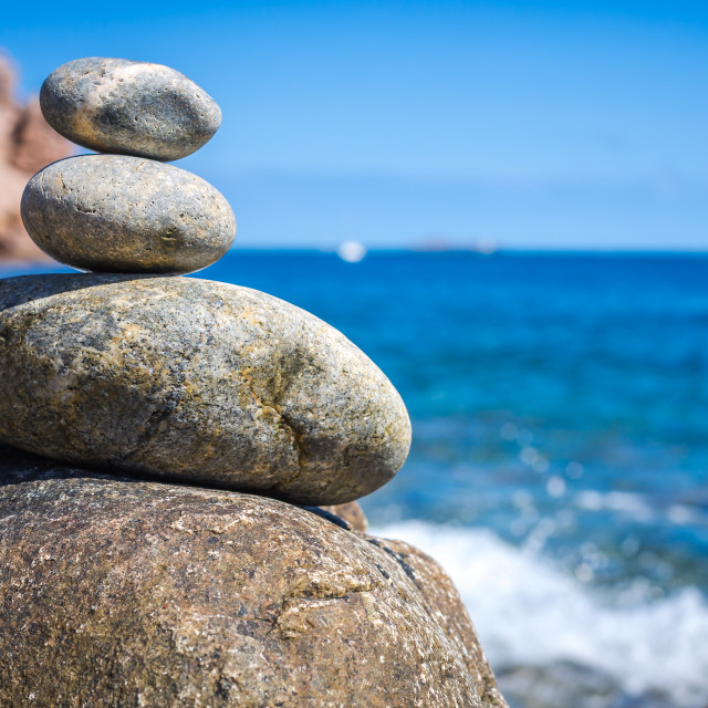 """Stones into the sea"" stock image"