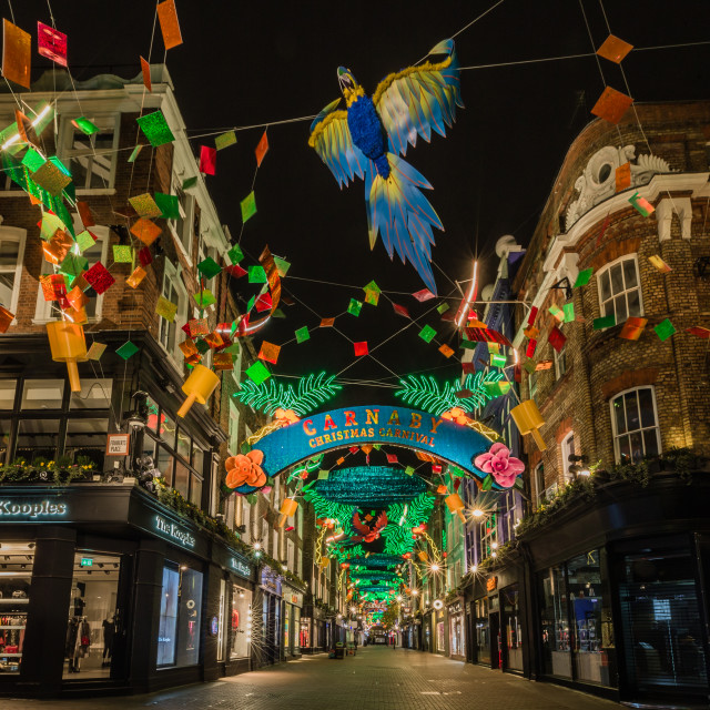 """Carnaby Christmas Carnival"" stock image"