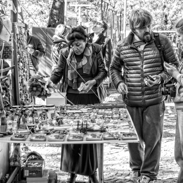 """Flea market in Tbilisi"" stock image"