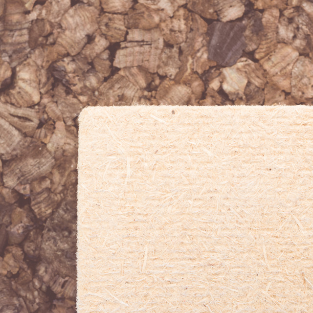"""thermal insulating hemp fiber and compressed cork panels"" stock image"