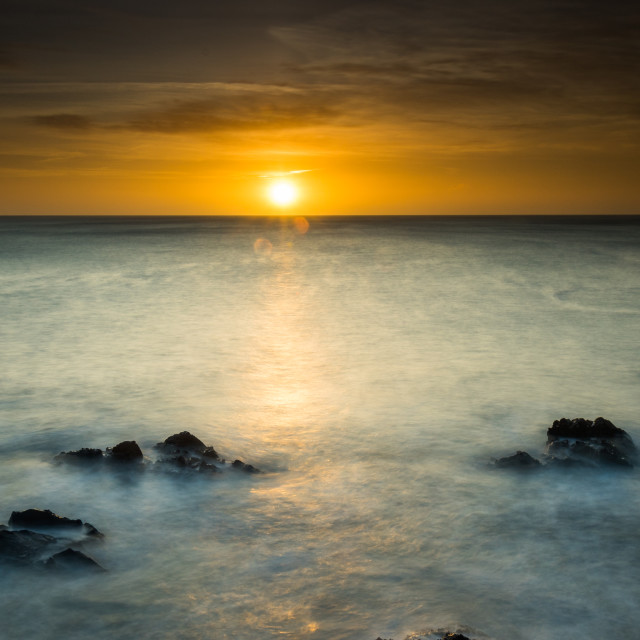 """Boatstrand Sunrise"" stock image"