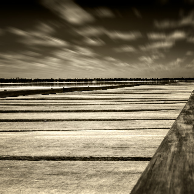 """The Jetty: Lake Yealering, Western Australia"" stock image"