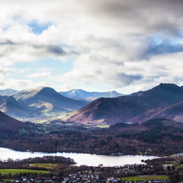 """The North Western Fells of the Lake District."" stock image"