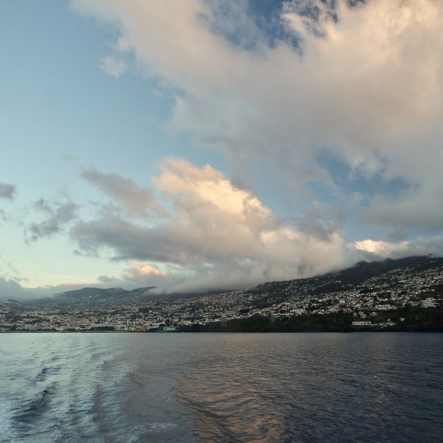 """View looking back at Funchal, Portugal"" stock image"
