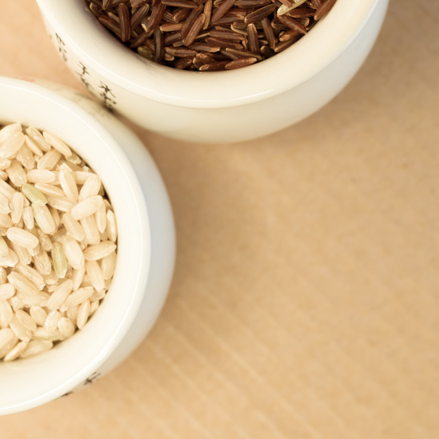 """wholemeal rice grains in a cup"" stock image"