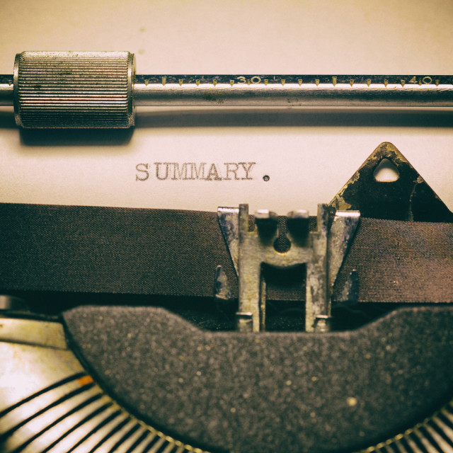 """Vintage typewriter with a text"" stock image"