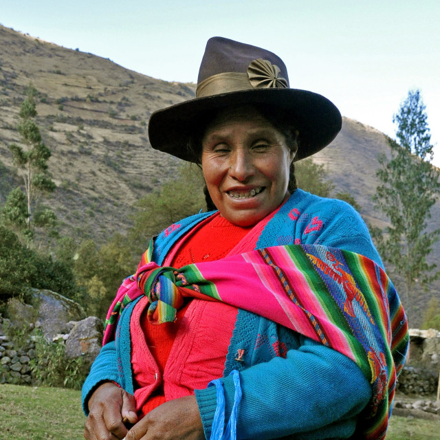 """Andean woman"" stock image"