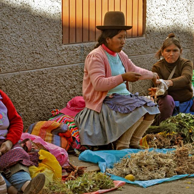 """Cuzco market 1"" stock image"