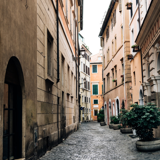 """Picturesque street in Rome"" stock image"