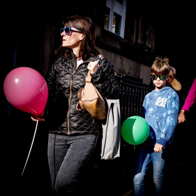 """Shrewsbury balloons"" stock image"