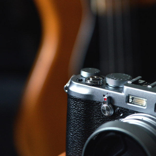 """Photography and music."" stock image"