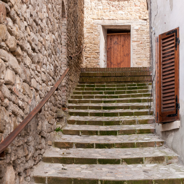 """Stairs up in Sassocorvaro"" stock image"