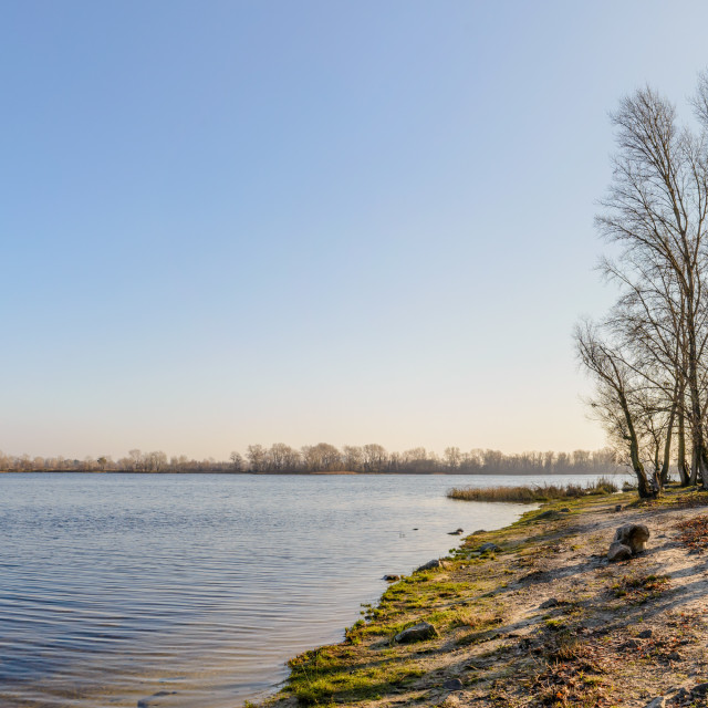 """Panorama of the Dnieper River in Kiev"" stock image"