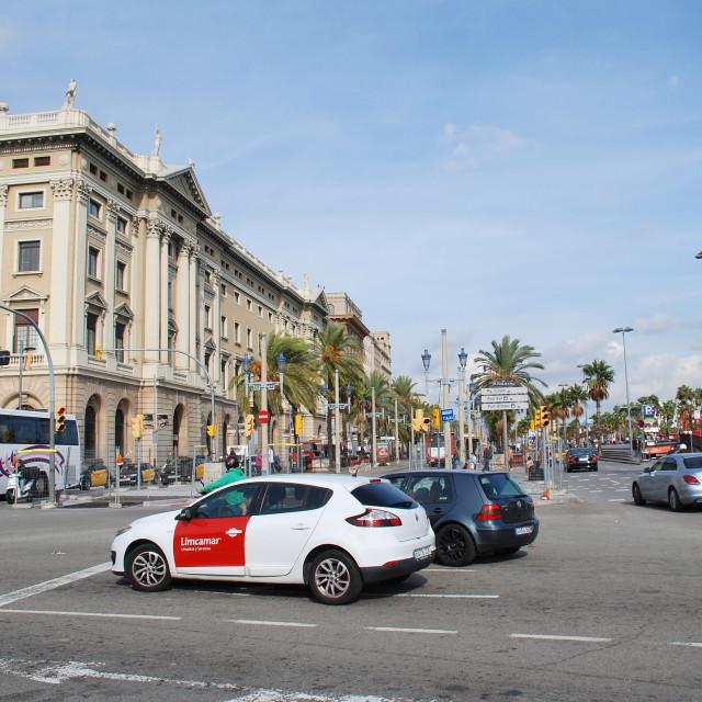 """""""Passeig de Colom, Barcelona"""" stock image"""