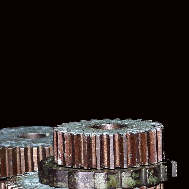 """Metal gear cogs"" stock image"