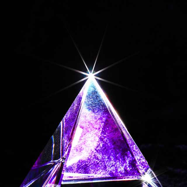 """Crystal pyramid"" stock image"
