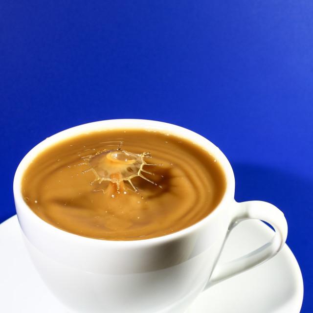 """""""Teacup splash"""" stock image"""