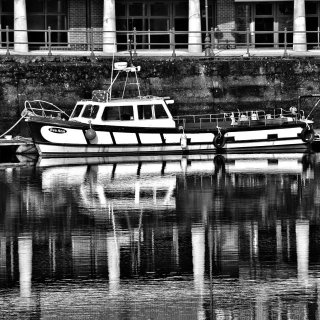 """The Eva Ann moored at Milford Haven marina"" stock image"