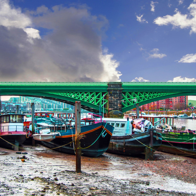 """Battersea Bridge"" stock image"