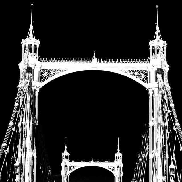 """Albert Bridge London"" stock image"