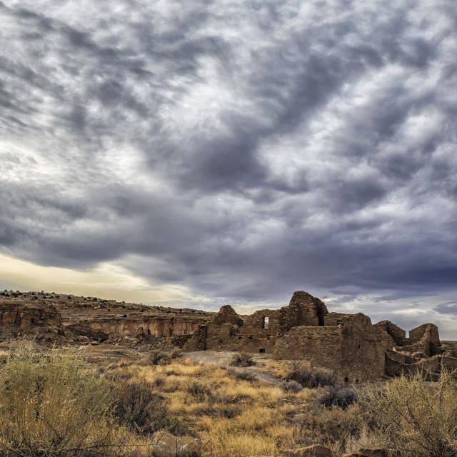 """Sky Over Chaco Canyon"" stock image"