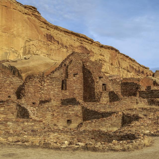 """""""Chetro Ketl Ruins - Chaco Canyon"""" stock image"""