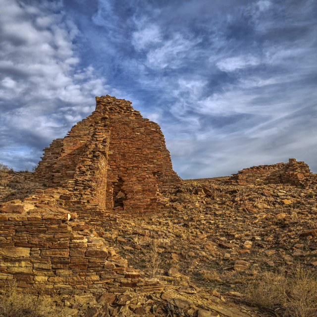 """Hungo Pavi Ruins - Chaco Canyon"" stock image"