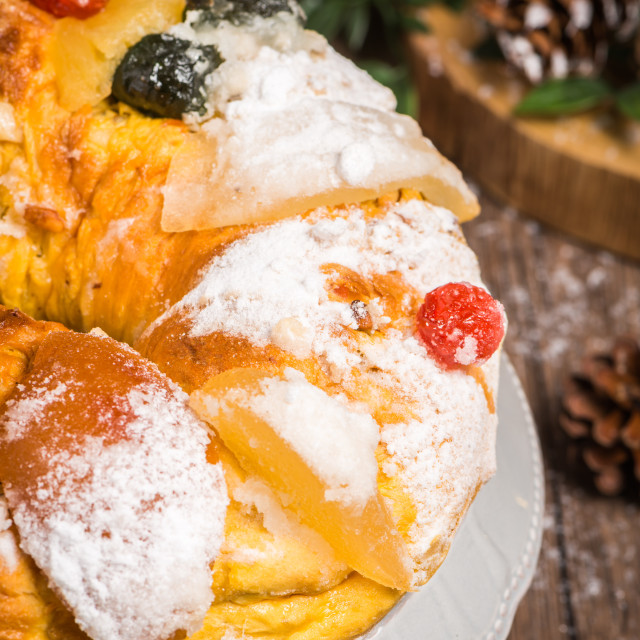 """Bolo do Rei or King's Cake"" stock image"