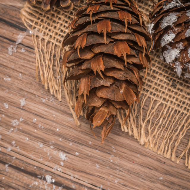 """Christmas wooden background"" stock image"