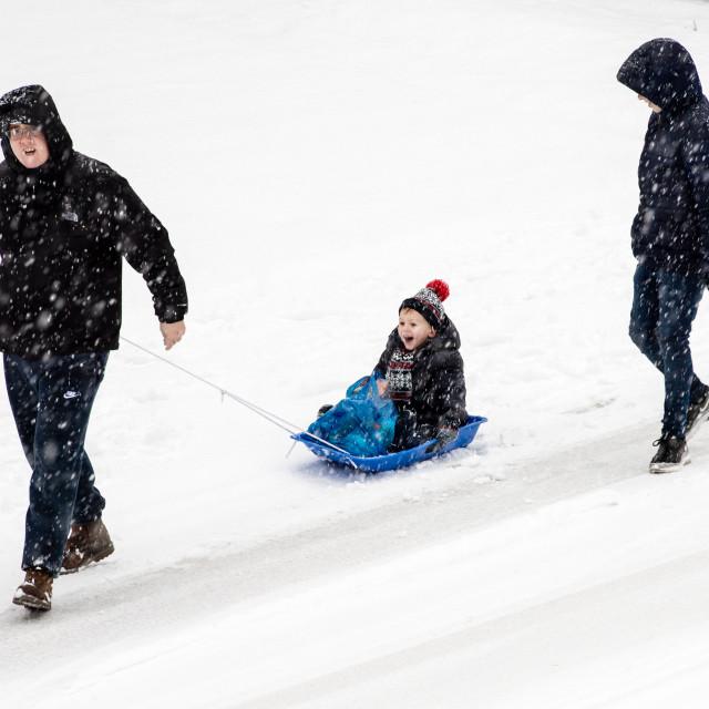 """""""Heavy snow hits Essex"""" stock image"""