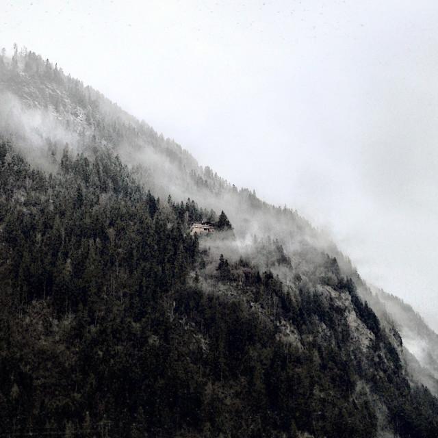 """A Mountain retreat"" stock image"