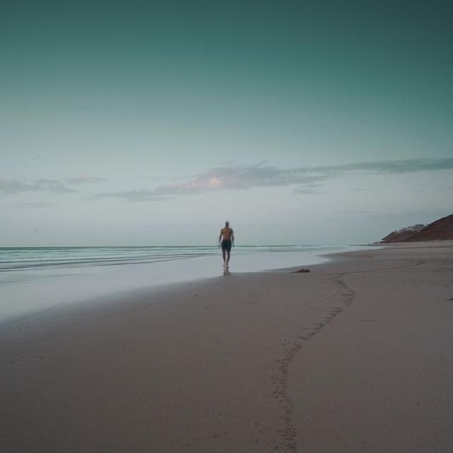"""Running on a beach"" stock image"