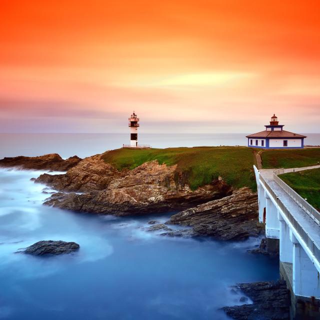 """View on Pancha Island at sunset."" stock image"