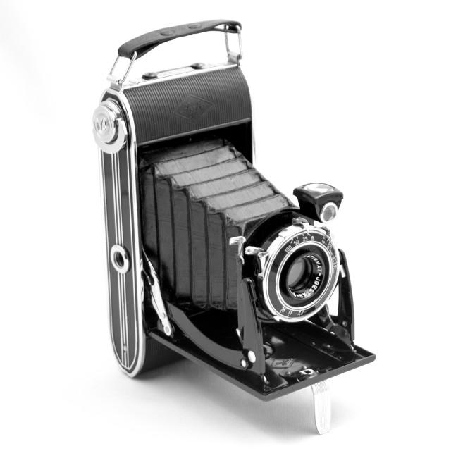 """""""Old camera on white background"""" stock image"""