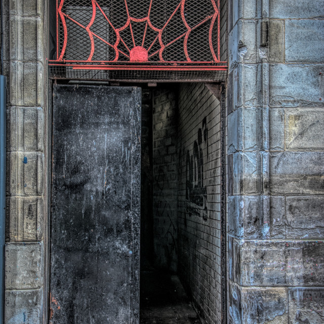 """Glasgow Doorway"" stock image"