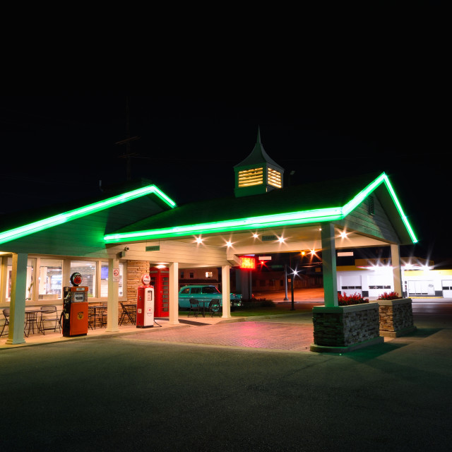 """""""Best Western Rail Haven motel. Famous motel on Route 66."""" stock image"""